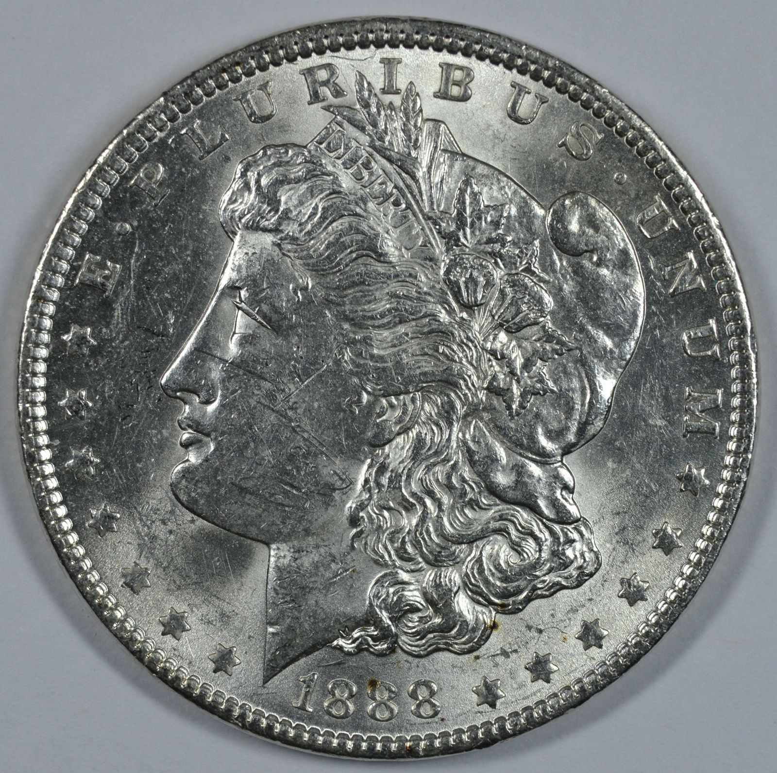 Primary image for 1888 P Morgan circulated silver dollar XF details