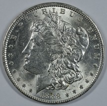 1888 P Morgan circulated silver dollar XF details - $48.00