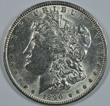1890 P Morgan circulated silver dollar XF details - $48.00