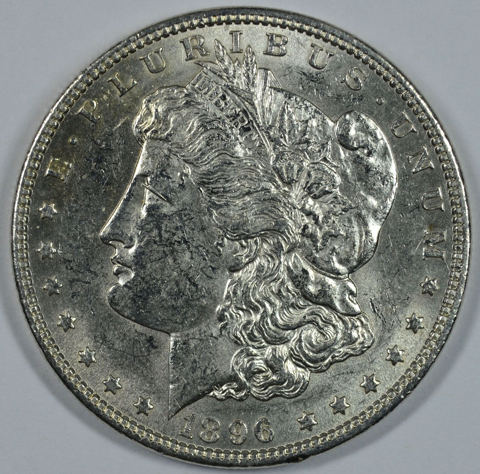 Primary image for 1896 P Morgan circulated silver dollar XF details