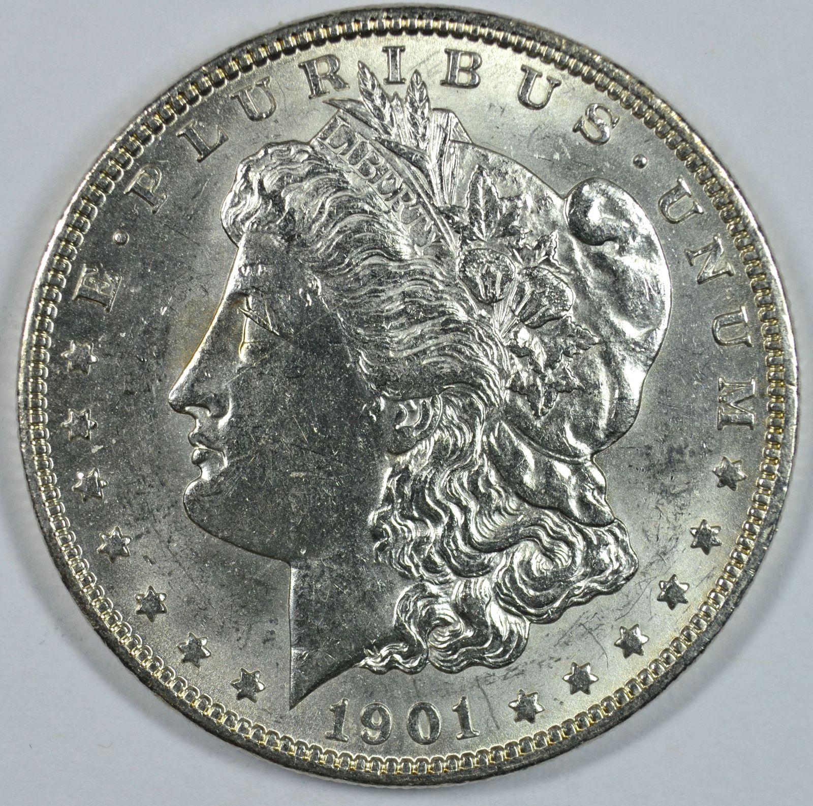 Primary image for 1901 O Morgan silver dollar AU details