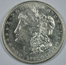 1921 D Morgan circulated silver dollar XF details - $45.00