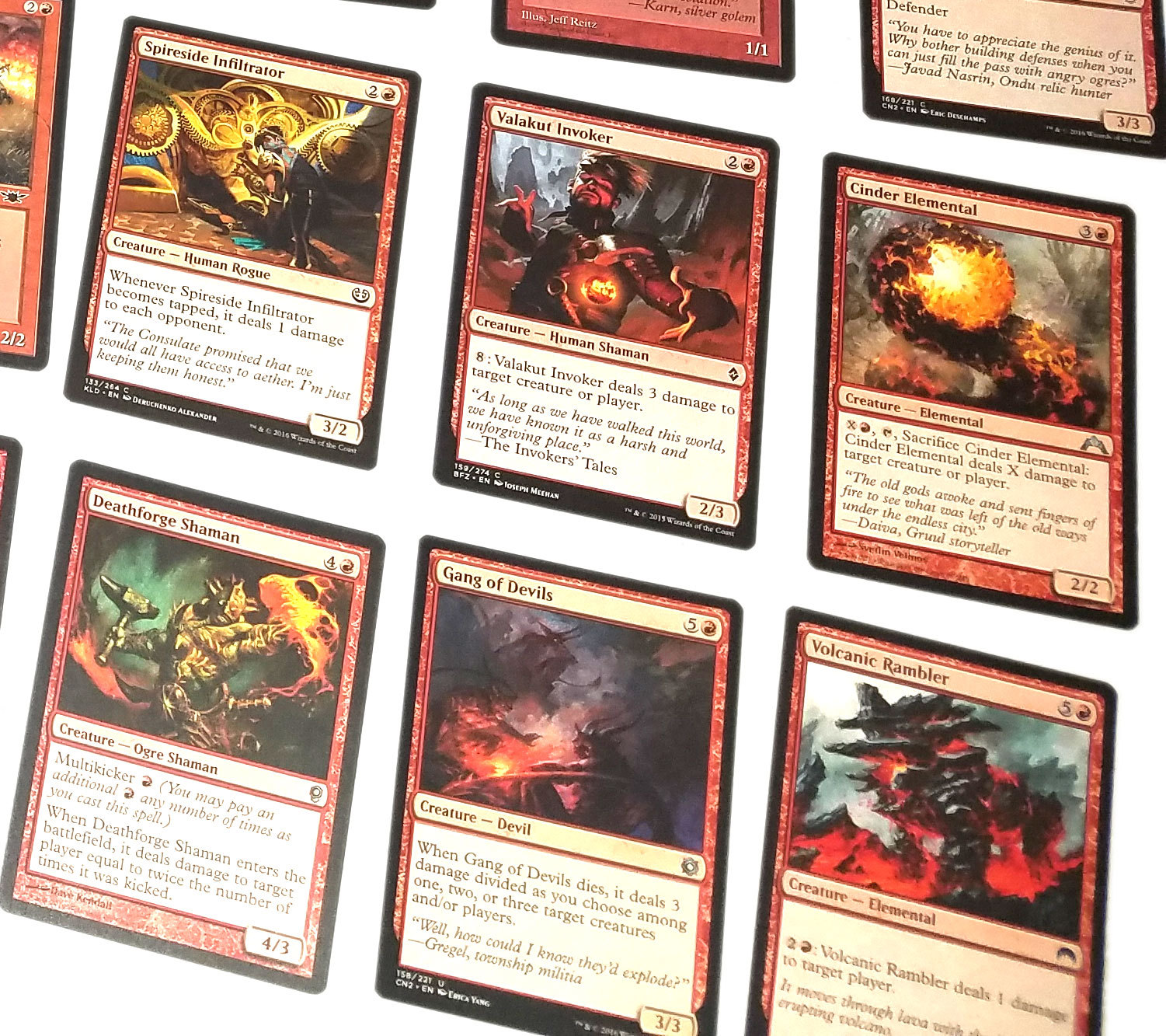 Magic the Gathering MTG Red Direct Damage / Red Burn Aggro (60) Card Deck *02