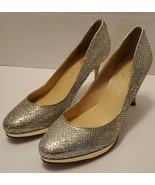 Ivanka Trump Gold Glitter High Heels Stunning Sz 10 - $24.75