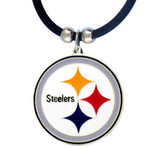 Pittsburgh Steelers Pendant Black Rubber Necklace - €8,87 EUR