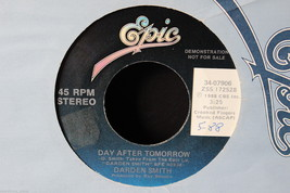 Darden Smith Day After Tomorrow Promo on Epic #34-07906 in 1988 45-rpm R... - $8.99