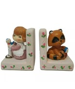 """Vintage Plastic Children Book Ends Made in Hong Kong 5.25"""" H x 4.25"""" W x... - $44.55"""