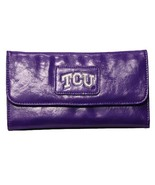 Texas Christian TCU Hornfrogs PVC Captain Tri Fold Metal Logo Wallet Ncaa - $28.00