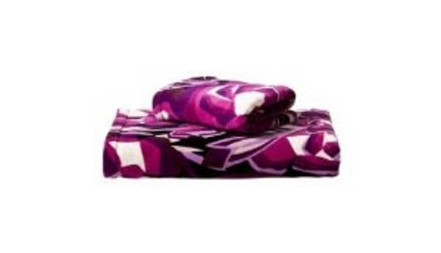 authentic missoni home target bath towel passione purple floral b w
