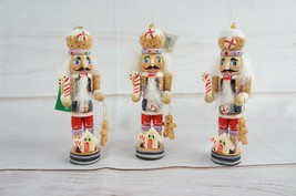 "New Lot of 3 Kurt S Adler 5"" Gingerbread Nutcracker Ornament Christmas - $29.69"
