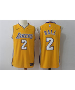 2017 Men's Los Angeles Lakers #2 Lonzo Ball basketball jersey yellow.jpg - $26.66