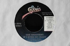 The Shooters If I Ever Go Crazy; Promo Copy 45-rpm Record - $7.99