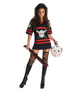 Sexy Miss Voorhees Womens Halloween Costume Dress - £39.56 GBP
