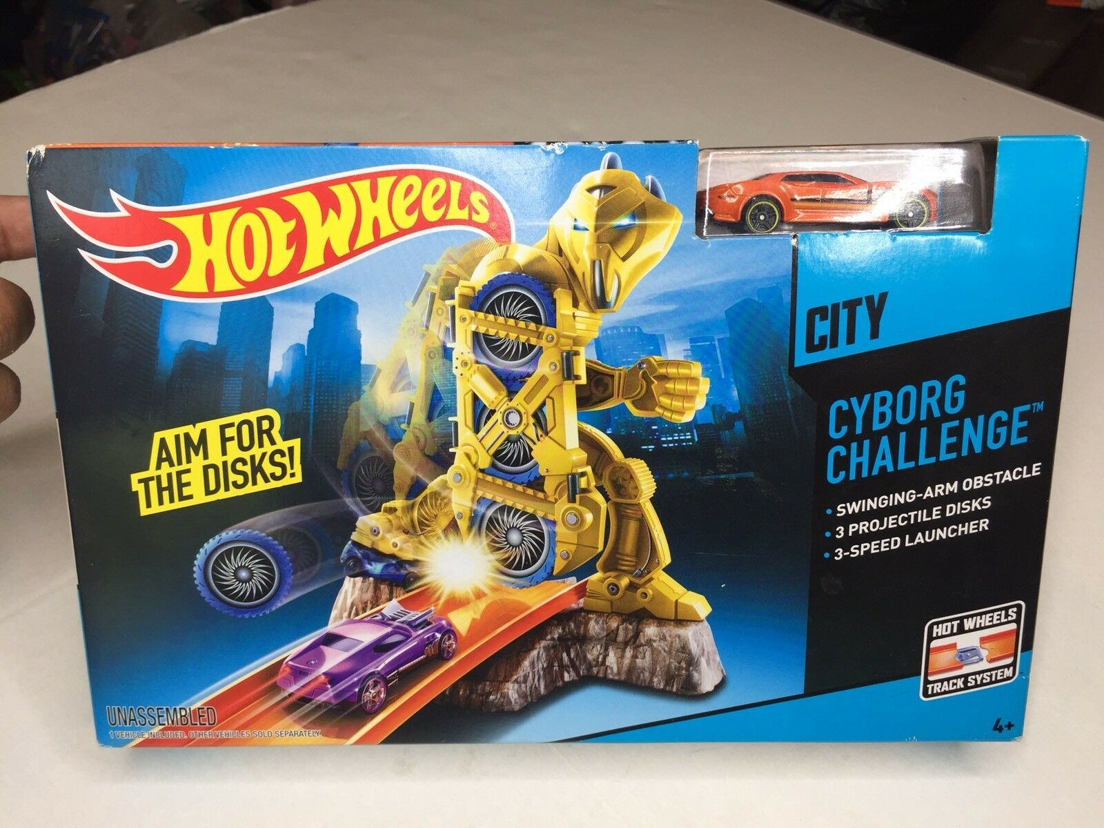 Primary image for Mattel Hot Wheels City Cyborg Challenge Aim For Disks Track System Set NEW
