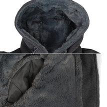 EKZ Men's Graphic Geo Tribal Fleece Lined Zip Up Sherpa Hoodie Jacket image 7