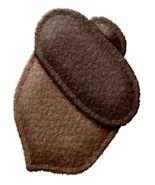 Acorn Felt Brown-Digital Download-ClipArt-ArtClip-Digital Art   - $4.00