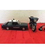 VTG Polistil MOTO GUZZI Carabinieri Diecast Motorcycle and Police Car - $35.00