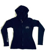 Harley Davidson Women Small Full Zip Hoodie Sweatshirt Marion IL Cotton ... - $27.86