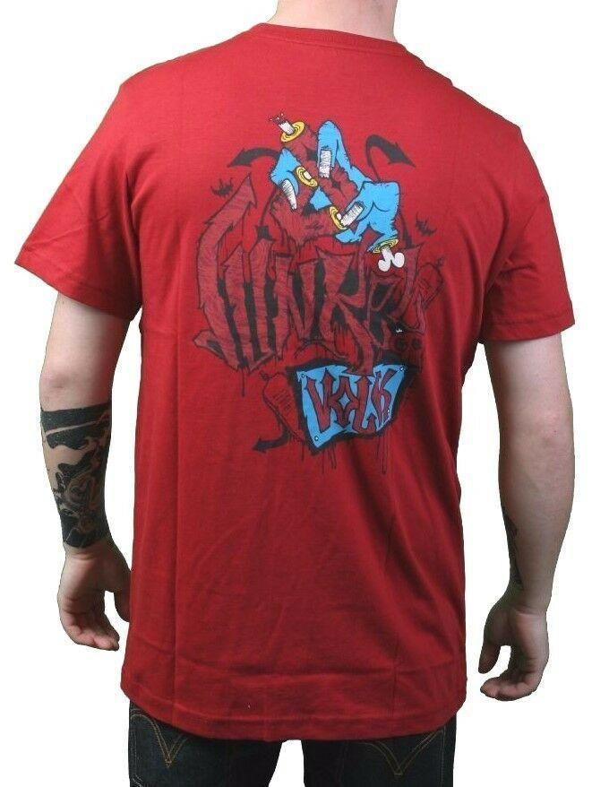 Dunkelvolk Hommes Chili Rouge Zoombi Zombi Péruvien Artistes T-Shirt Nwt