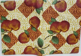 "Superior Tablecloth Vinyl Flannel Back, 60"" X 80"" Oval (6 ppl) APPLES - $19.79"