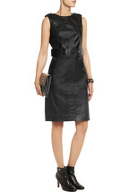 New Women Sexy Genuine Lambskin Leather Evening Cocktail Ladies Party Dr... - $144.30