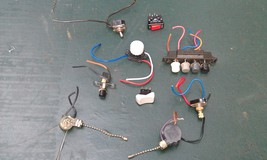 9 P42 Assorted Switches, 9 Pcs, Rocker / Rotary / Pushbutton, Good Condition - $19.00
