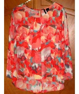 "New Directions Pullover Dressy Floral Blouse, 54"" Bust, 2X/3X, NWOT - $14.95"