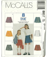 McCall's Sewing Pattern 8857 Girls Skirt Size 4 5 6 New Uncut - $9.98