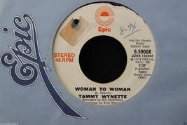 Tammy Wynette Woman To Woman Promo on Epic #8-50008, Orange & White 45rp... - $14.84