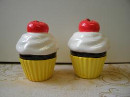 Cupcake Chocolate Cherry Salt and Pepper Shaker Set - $6.95