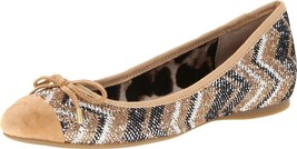 Women's Jessica Simpson MISHA Flats Ballerinas Slip On Black Copper Nude... - €33,27 EUR