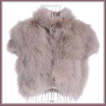 Mink Faux Fur Short Sleeved Vest Jackets White Black Natural Rose and Sapphire image 3