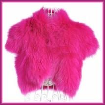 Mink Faux Fur Short Sleeved Vest Jackets White Black Natural Rose and Sapphire image 4