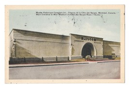Canada Montreal Quebec Wax Museum Main Entrance Vntg PECO Postcard Poste... - $2.90