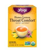 Yogi Tea, Throat Comfort, Honey Lemon, Caffeine Free, 16 Tea Bags 1.12 o... - $4.00