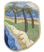 Palm Point: Quilted Art Wall Hanging - $395.00
