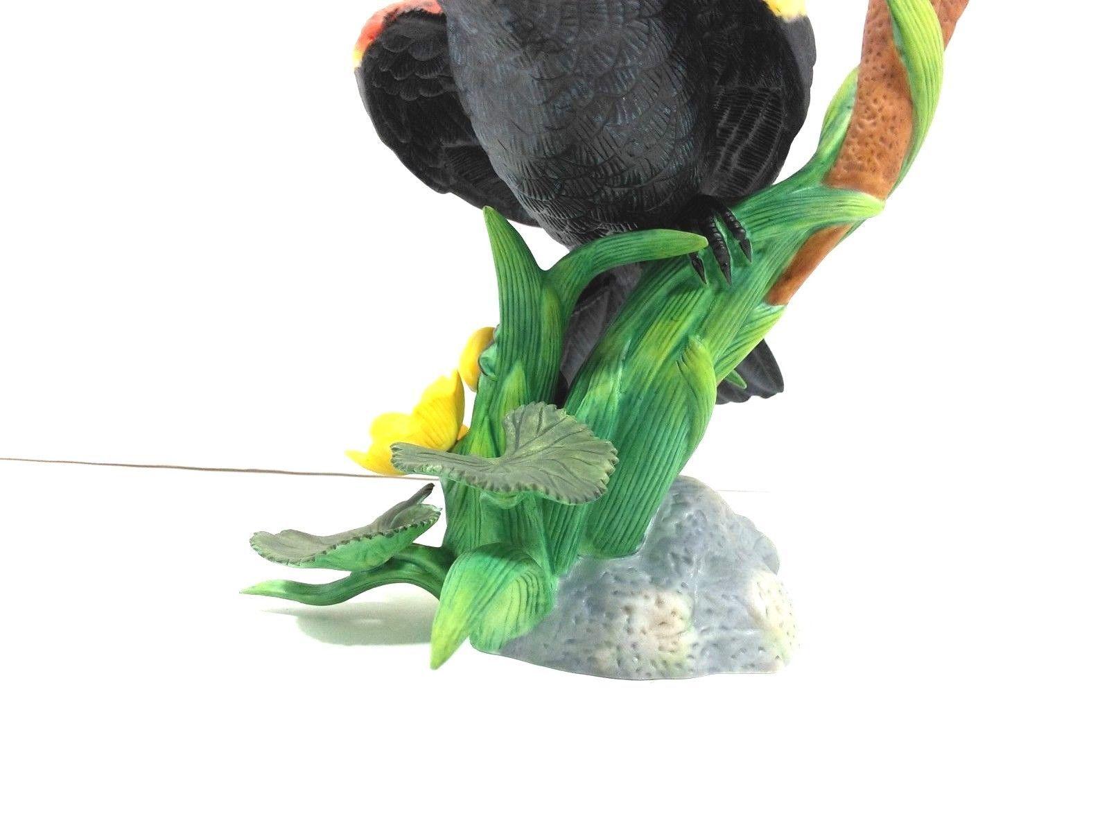 THE LENOX GARDEN BIRD COLLECTION Red Winged Black Bird (Fine Porcelain 1991) image 8