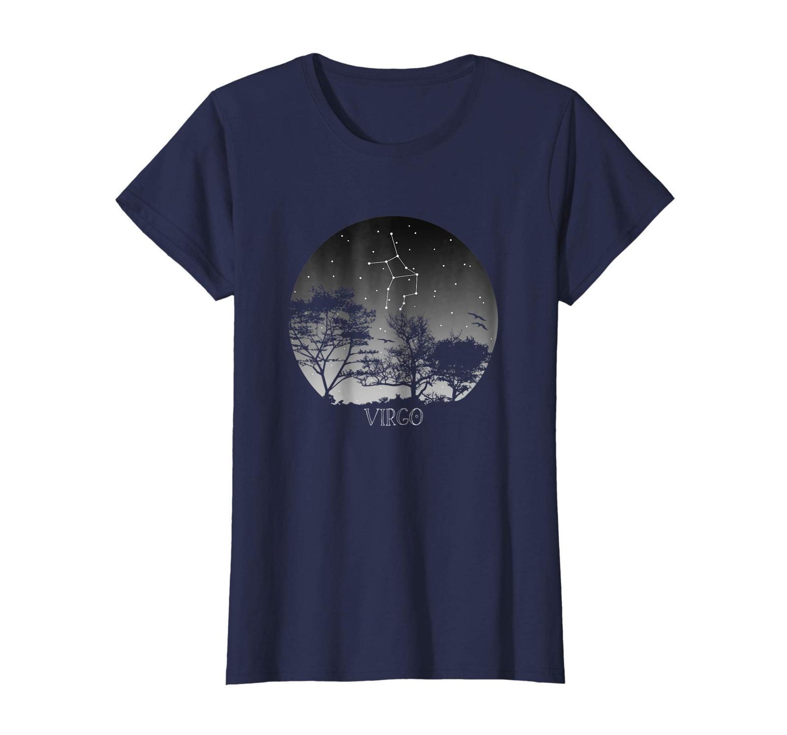 Funny Happy birthday T-Shirt - Astronomy Constellation - Astrology Zodiac Virgo