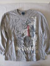 Boys Reebok Gray Football Shirt Long Sleeve Size M - $6.79