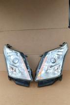 2010-15 Cadillac SRX Halogen Headlight Head Light Set LH & RH - POLISHED image 2