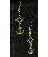 Rockabilly Anchor Dangly Earrings made with Nickel Free hooks - $5.40