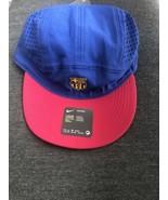 NWT  Nike FCB Barcelona Soccer Tailwind Hat Navy Adjustable Cap Football - $32.00