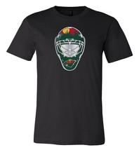 Minnesota Wild Goalie Mask front logo Team Shirt jersey shirt - $12.19+