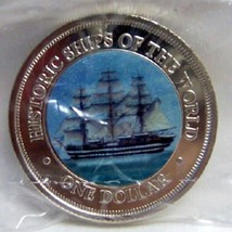 COOK ISLANDS AMERIGO VESPUCCI SHIP COLOR COIN uncirculated - $34.99