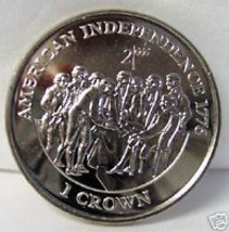 IOM MILLENIUM AMERICAN INDEPENDENCE CROWN '98 CUNI COIN uncirculated - $24.49