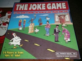 The Joke Game by All Things Equal - 2008 Edition Party Board Game  - $8.00