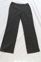 CALVIN KLEIN SIZE 4 LINED PINSTRIPE GREY WOMENS DRESS PANTS - $8.00