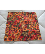 "Sunflower Pillow Cover in Fall Colors for 16"" Pillow Form - $6.95"