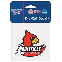 "Louisville Cardinals Official NCAA 4""x4"" Die Cut Car Decal by Wincraft [... - $0.94"