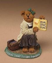 "Boyds Bearstone ""Miss Appleton.. Story Time"" #228432- NIB- 2004- Retired - $19.99"